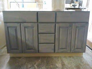 Gray Stain Vanity