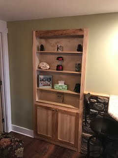 Hickory Built In Bookcase